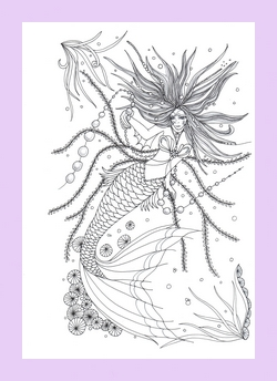The Coloring Page Below Of A Seahorse Lady Is From Book Healing Smalls And Can Be Purchased Amazon