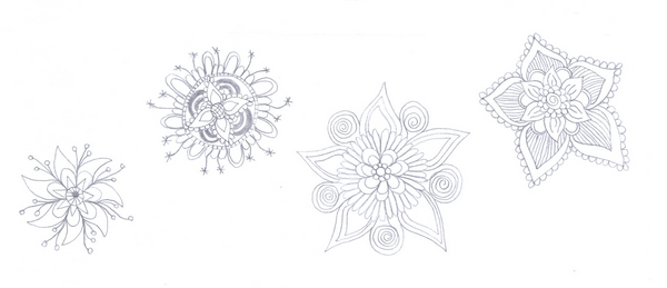 How to doodle draw flowers –